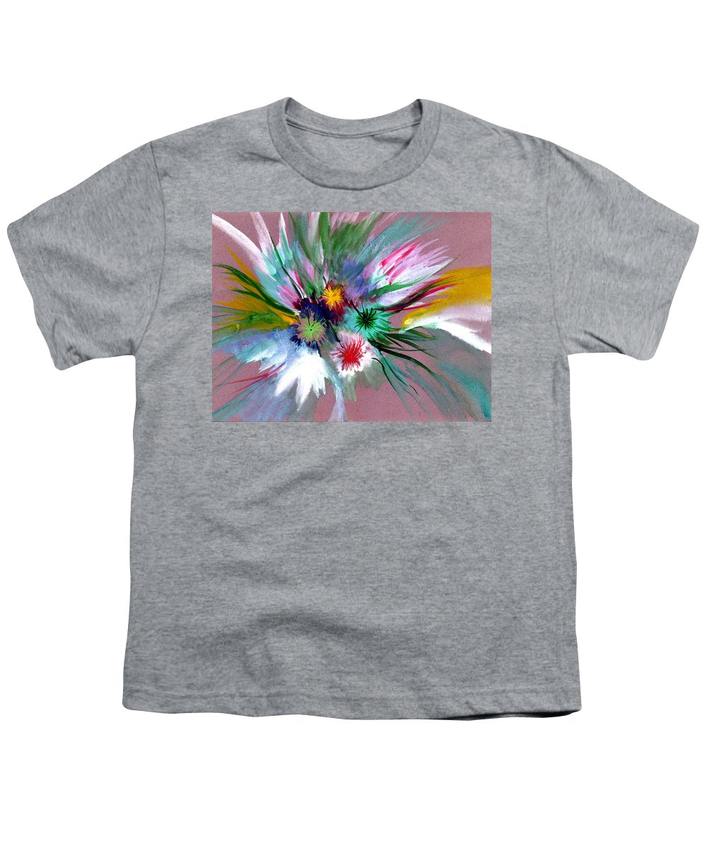 Flowers Youth T-Shirt featuring the painting Flowers by Anil Nene