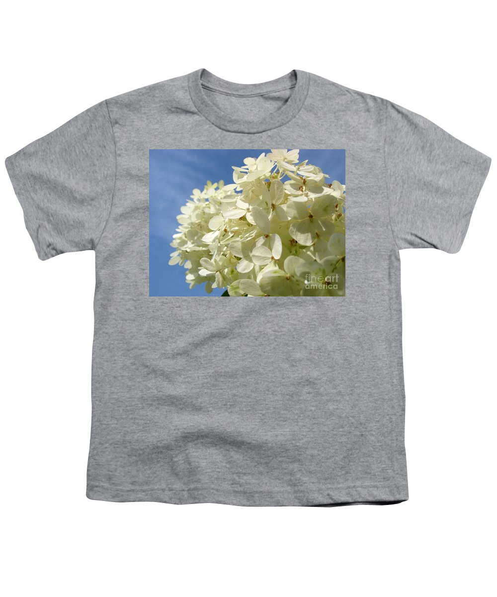 Hydranga Youth T-Shirt featuring the photograph Hydrangea by Amanda Barcon