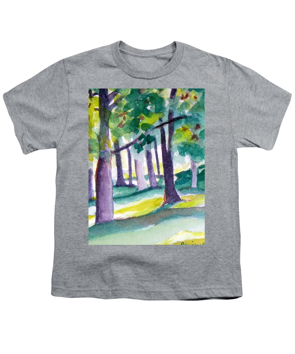 Nature Youth T-Shirt featuring the painting The Perfect Day by Jan Bennicoff