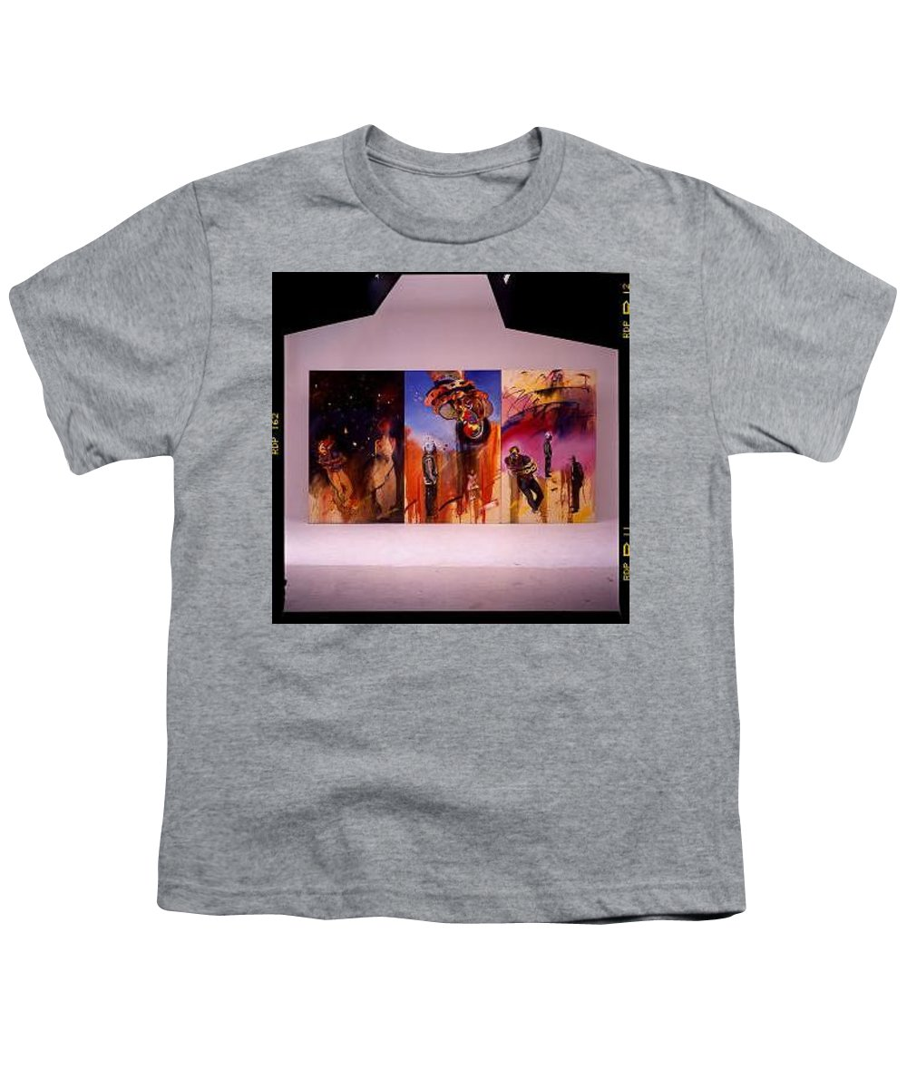 Canvas Youth T-Shirt featuring the painting Love Hurts by Charles Stuart