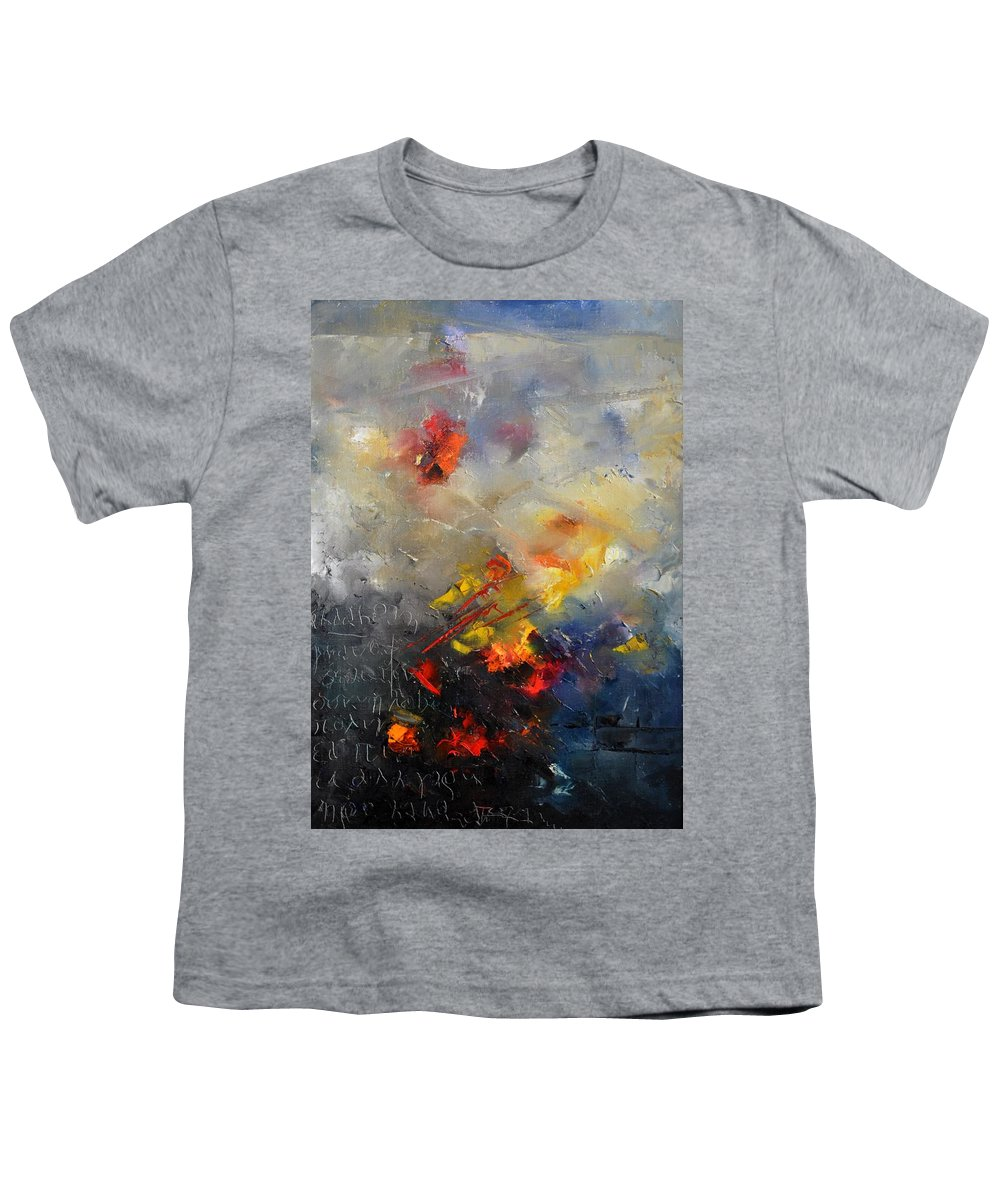 Abstract Youth T-Shirt featuring the painting Abstract 0805 by Pol Ledent