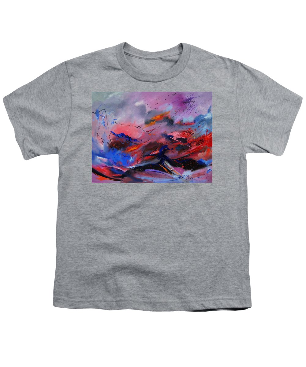 Abstract Youth T-Shirt featuring the painting Abstract 971260 by Pol Ledent