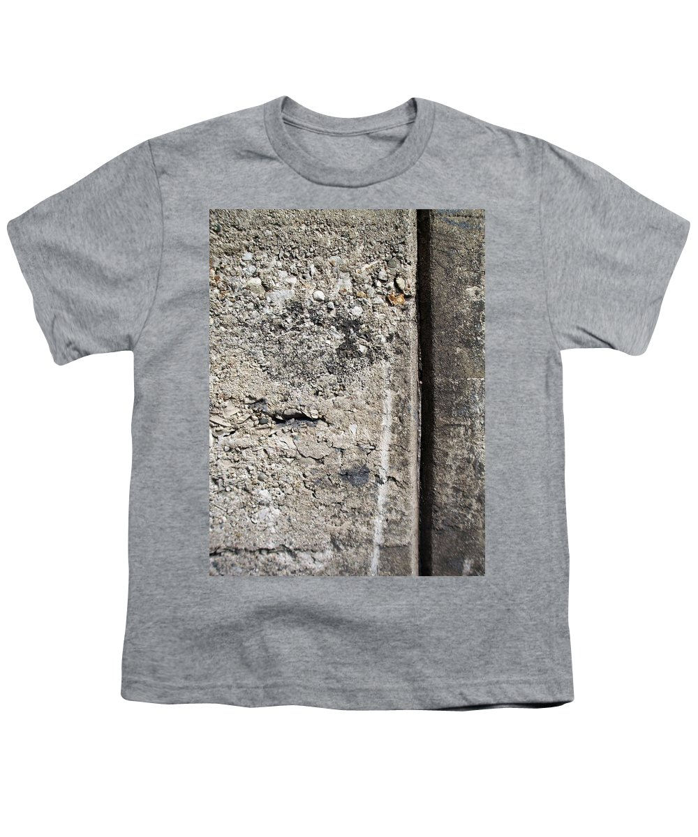 Industrial. Urban Youth T-Shirt featuring the photograph Abstract Concrete 16 by Anita Burgermeister