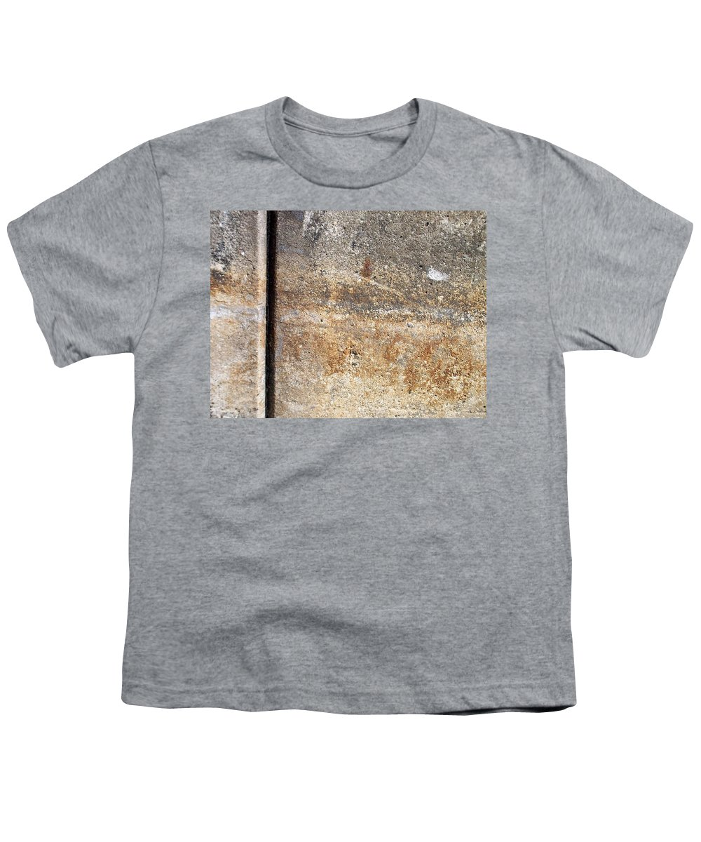 Industrial. Urban Youth T-Shirt featuring the photograph Abstract Concrete 17 by Anita Burgermeister