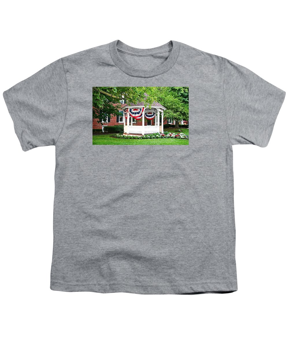 Gazebo Youth T-Shirt featuring the photograph American Gazebo by Margie Wildblood