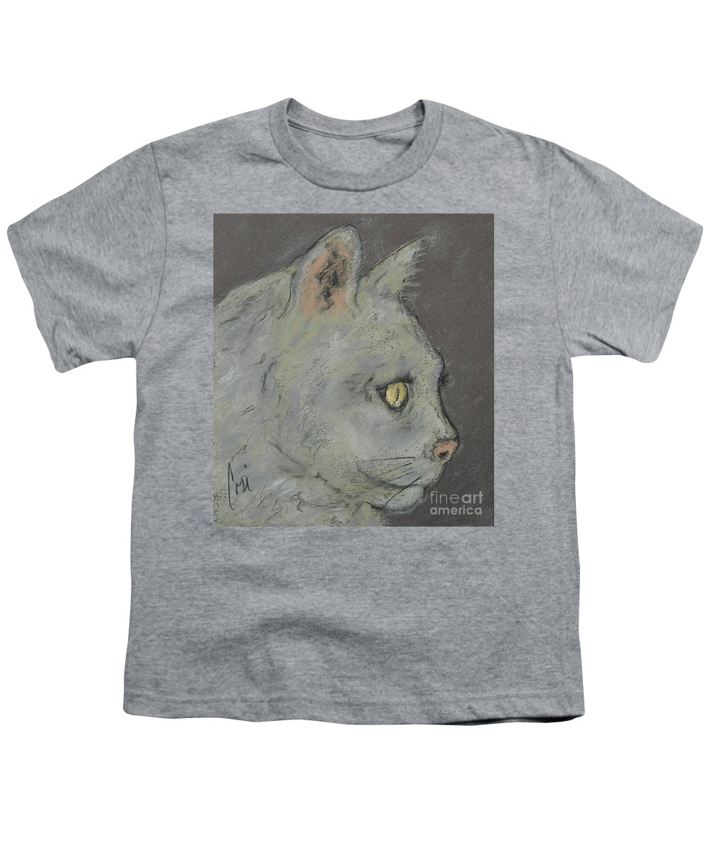 Pastels Youth T-Shirt featuring the drawing At Peace by Cori Solomon