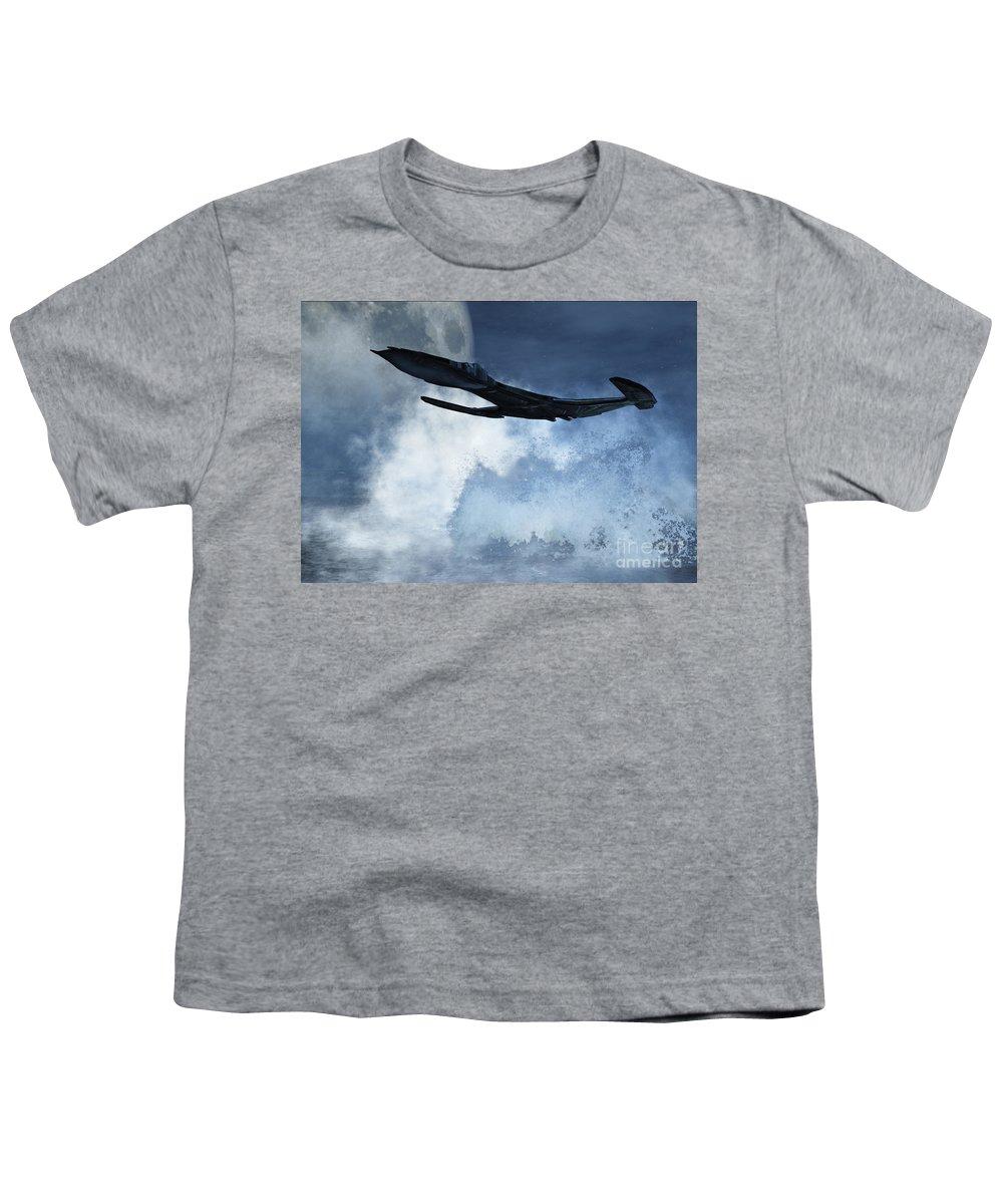 Flight Youth T-Shirt featuring the digital art Below Radar by Richard Rizzo
