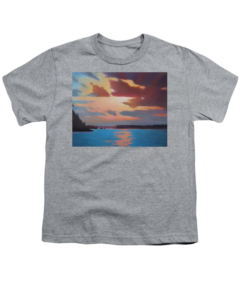 Bermuda Seascape Youth T-Shirt featuring the painting Bermuda Sunset by Dianne Panarelli Miller