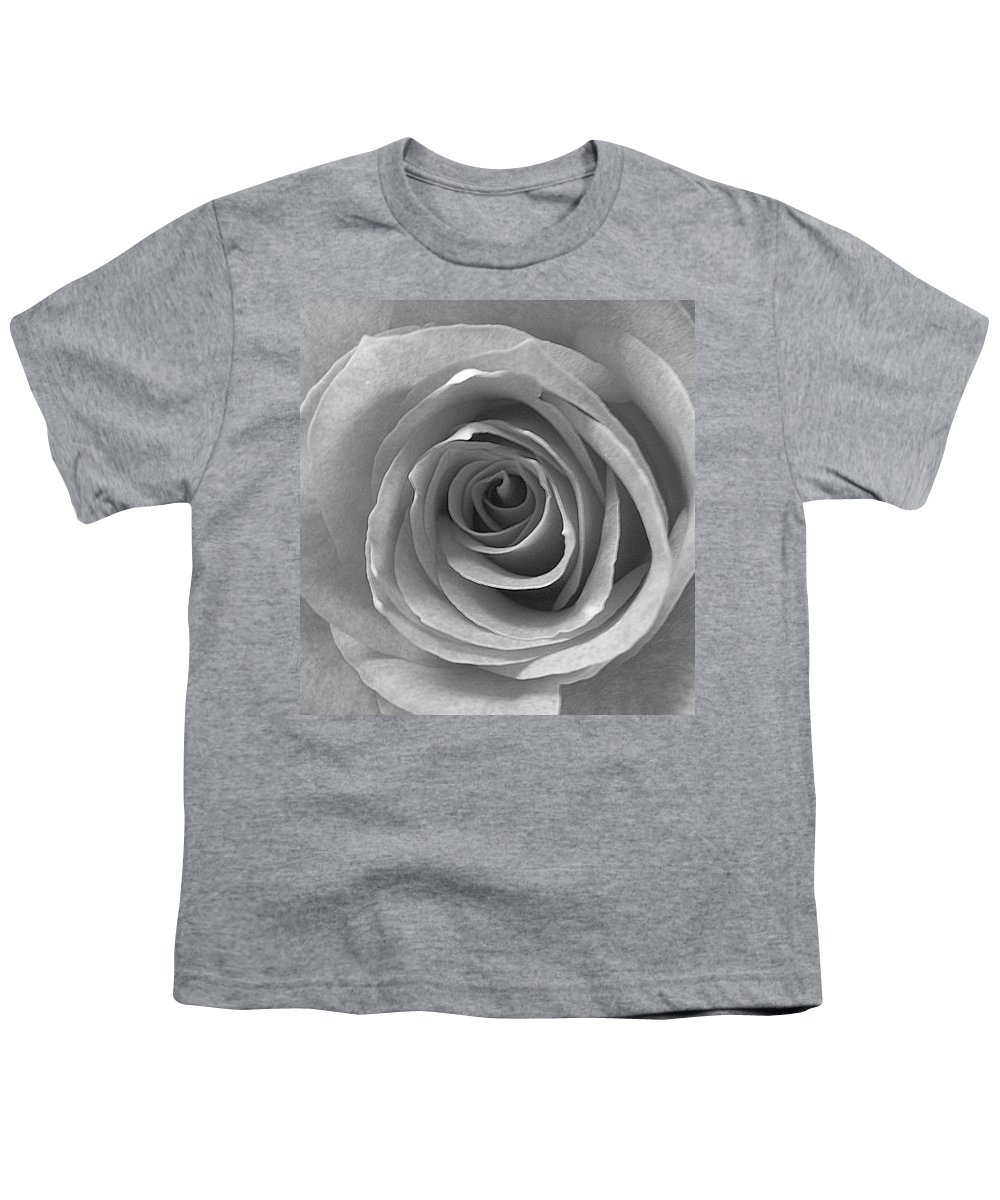 Rose Pedals Youth T-Shirt featuring the photograph Black And White by Luciana Seymour