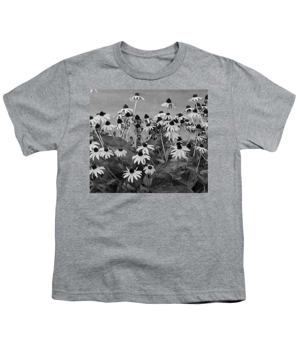 Youth T-Shirt featuring the photograph Black And White Susans by Luciana Seymour