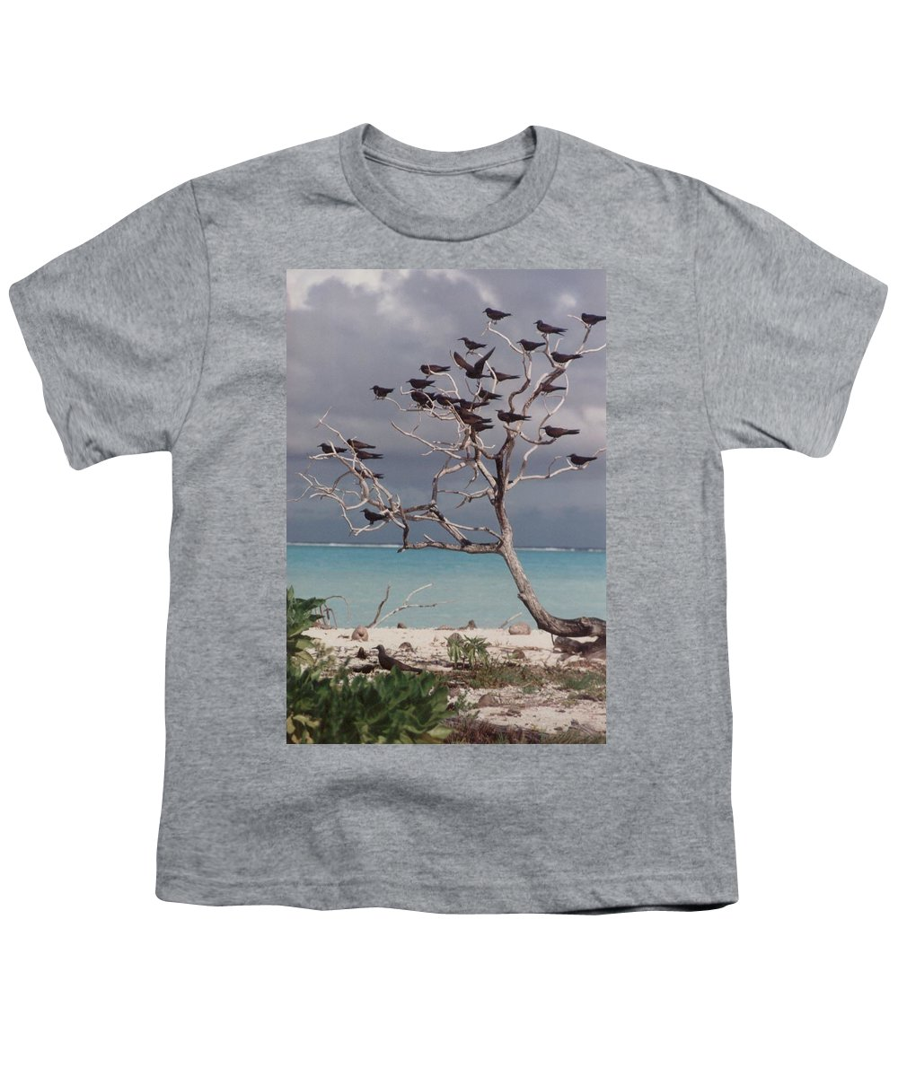 Charity Youth T-Shirt featuring the photograph Black Birds by Mary-Lee Sanders