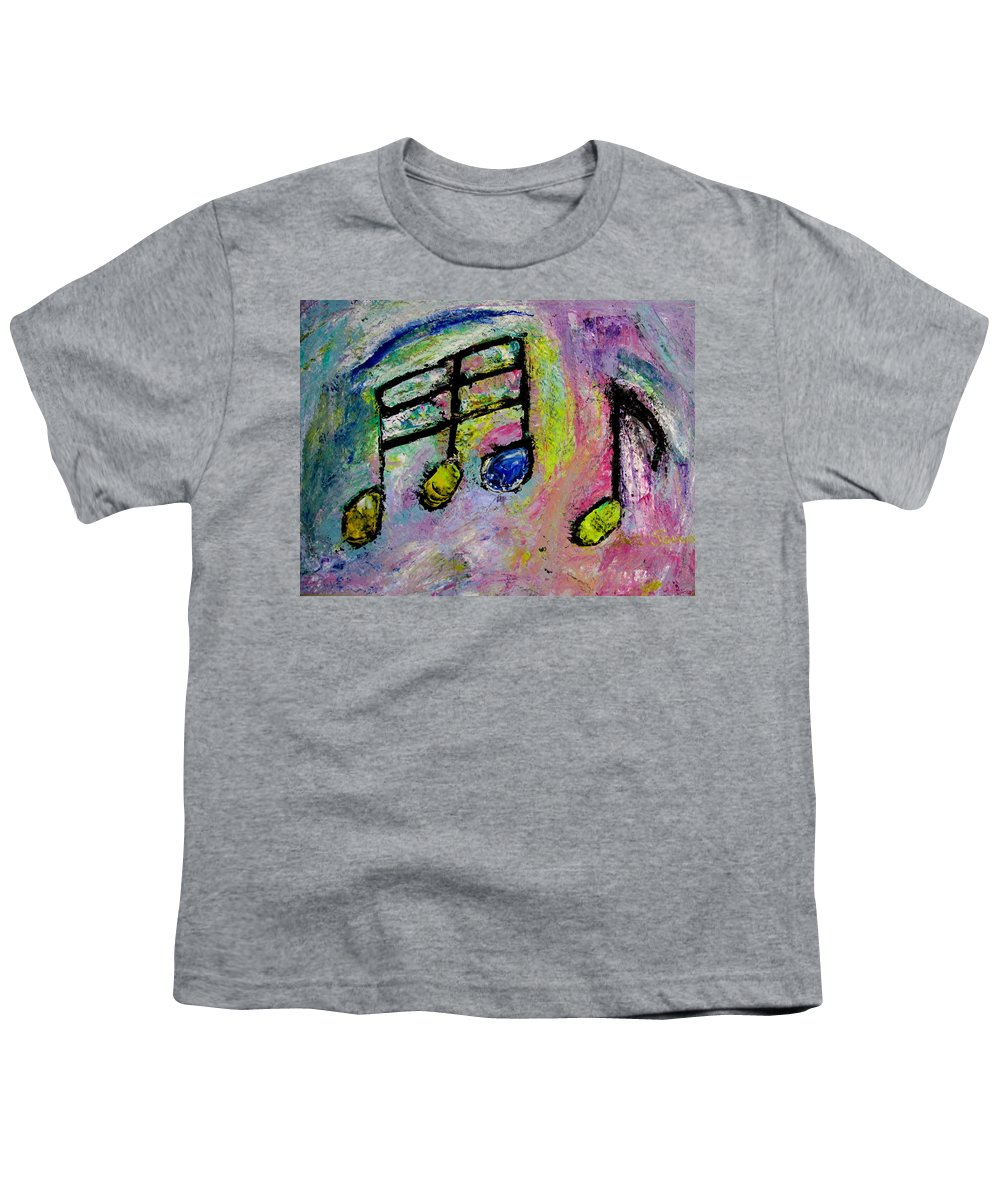 Impressionist Youth T-Shirt featuring the painting Blue Note by Anita Burgermeister