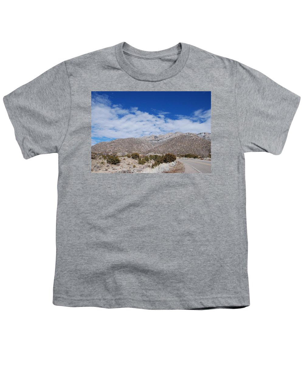 Sandia Mountains Youth T-Shirt featuring the photograph Blue Skys Over The Sandias by Rob Hans