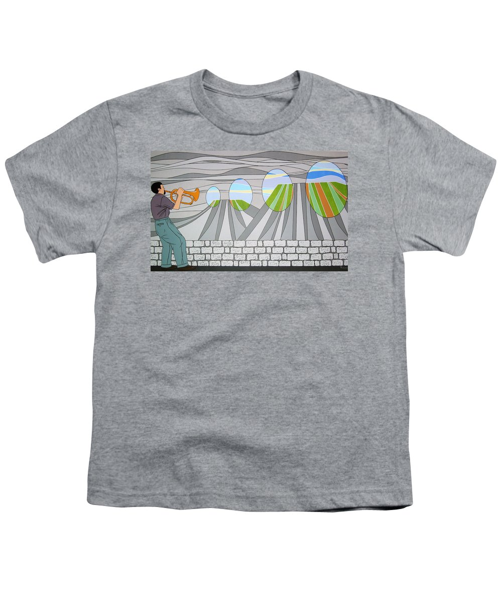 Trumpet Youth T-Shirt featuring the painting Candy Lips by Patricia Van Lubeck