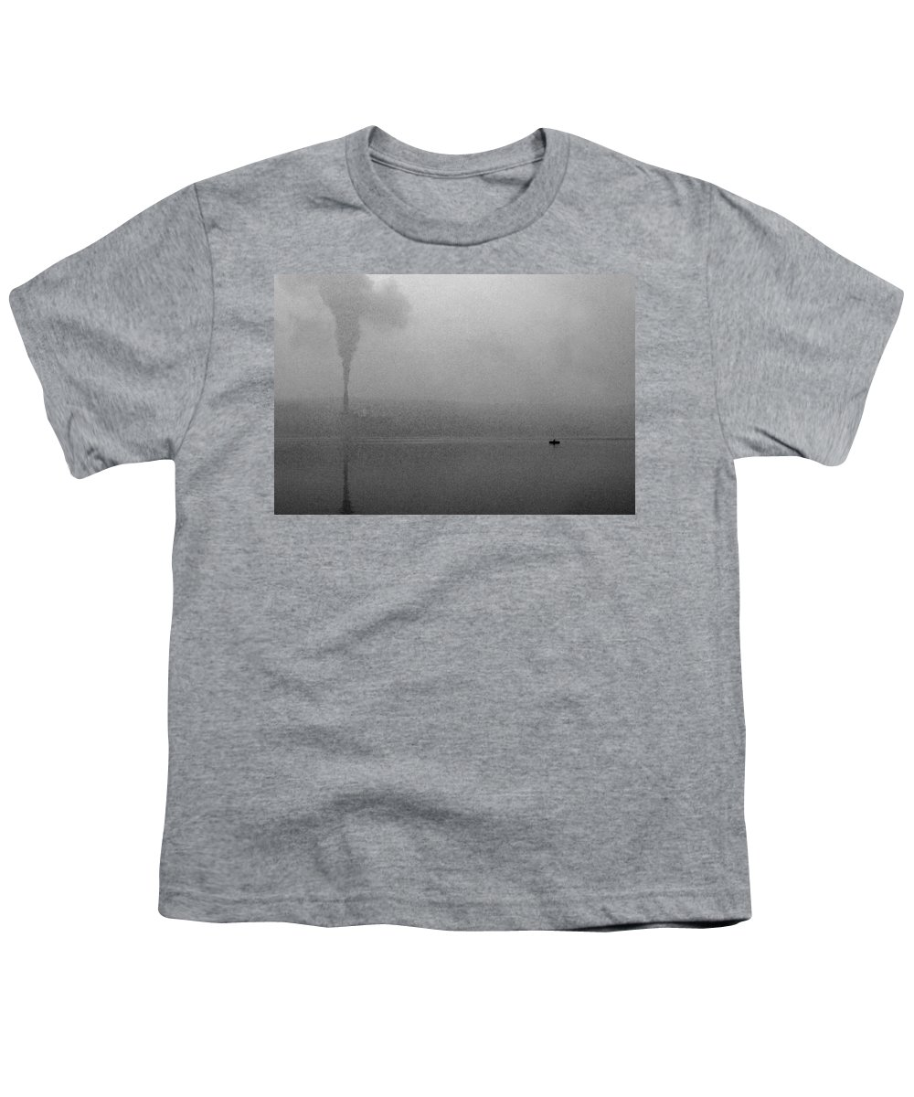 Solitude Youth T-Shirt featuring the photograph Cayuga Solitude by Jean Macaluso