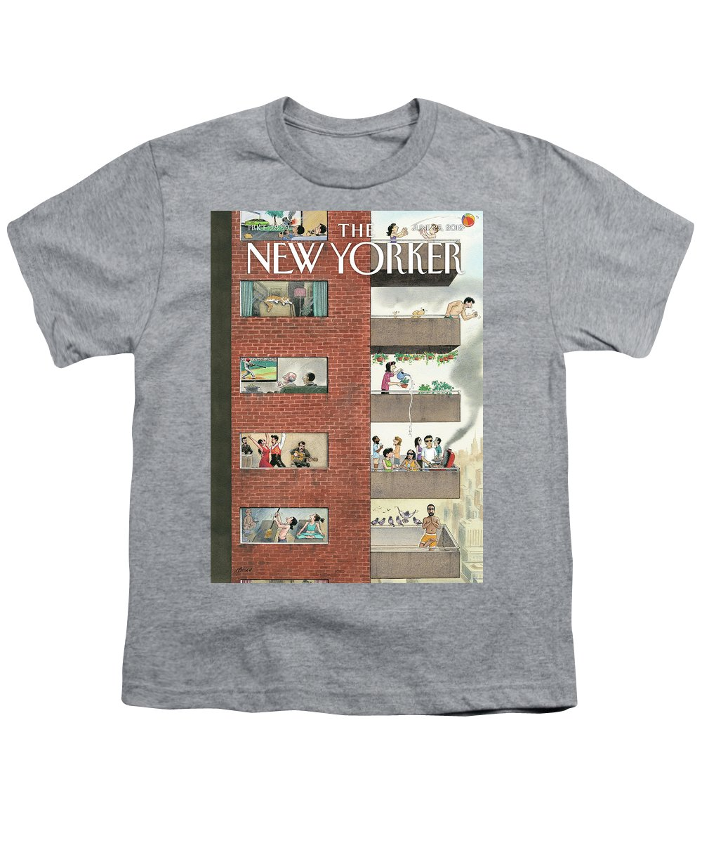 City Living Youth T-Shirt featuring the painting City Living by Harry Bliss