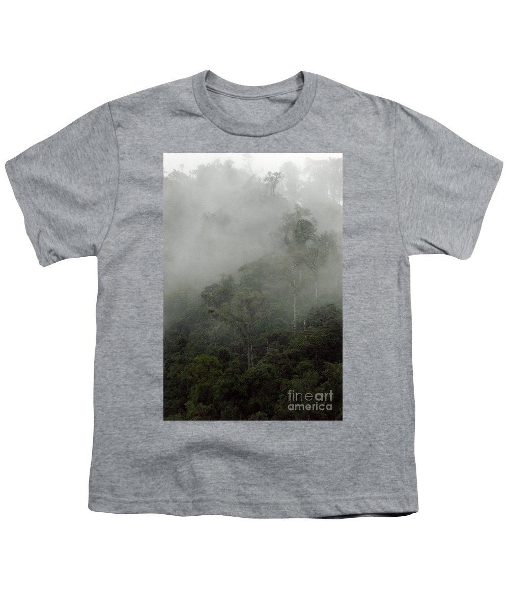 Rainforest Youth T-Shirt featuring the photograph Cloud Forest by Kathy McClure