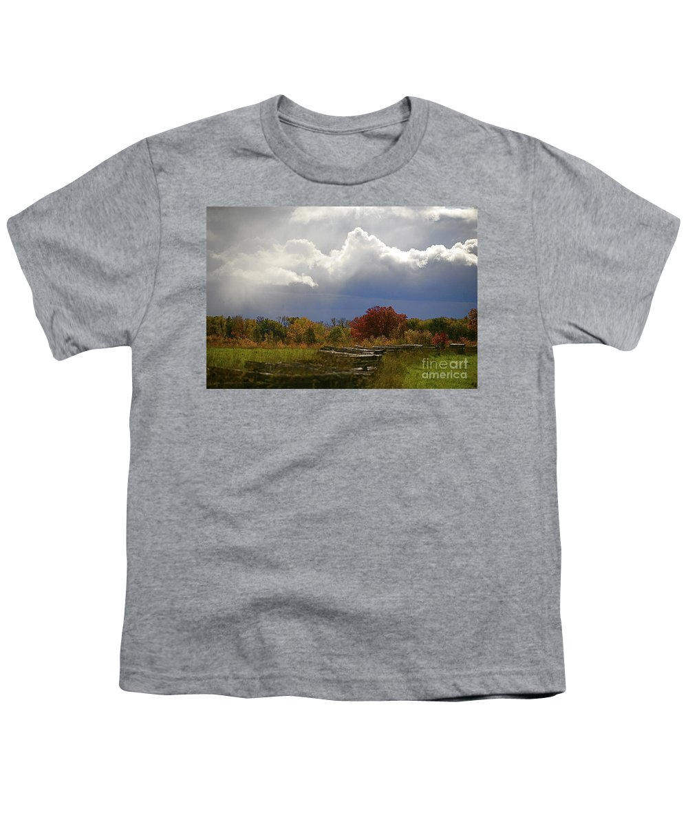 Landscape Youth T-Shirt featuring the photograph Cold Front by Robert Pearson