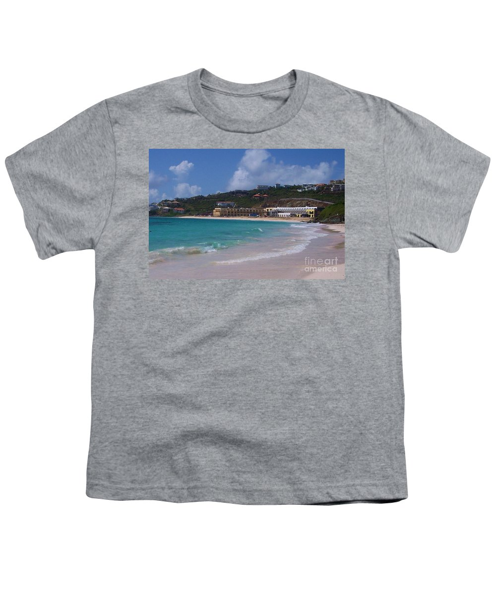 Dawn Beach Youth T-Shirt featuring the photograph Dawn Beach by Debbi Granruth