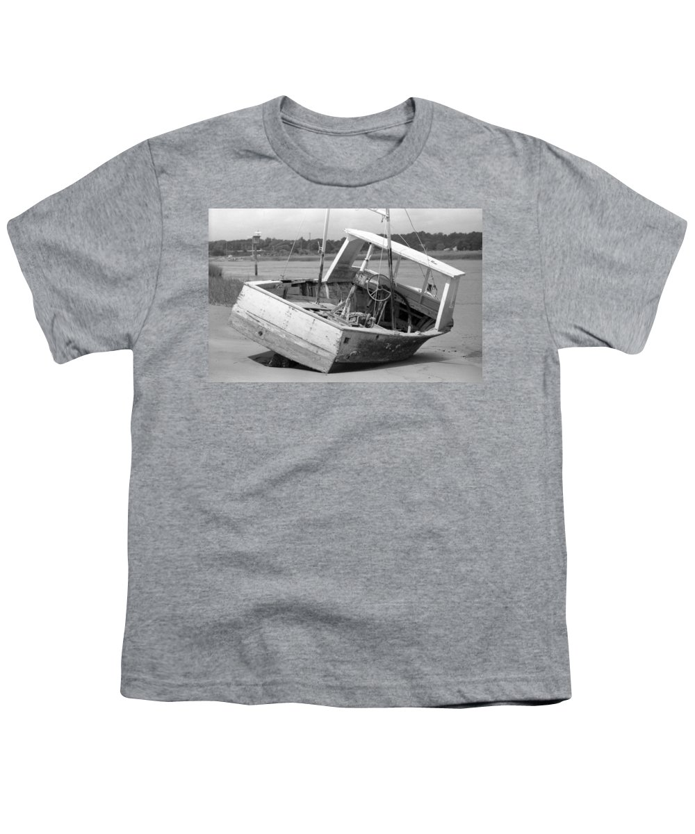 Abandoned Youth T-Shirt featuring the photograph Decommissioned by Richard Rizzo