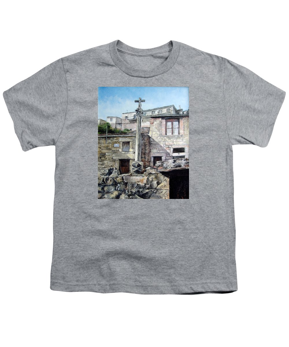 Fermoselle Youth T-Shirt featuring the painting Fermoselle.-crucero by Tomas Castano