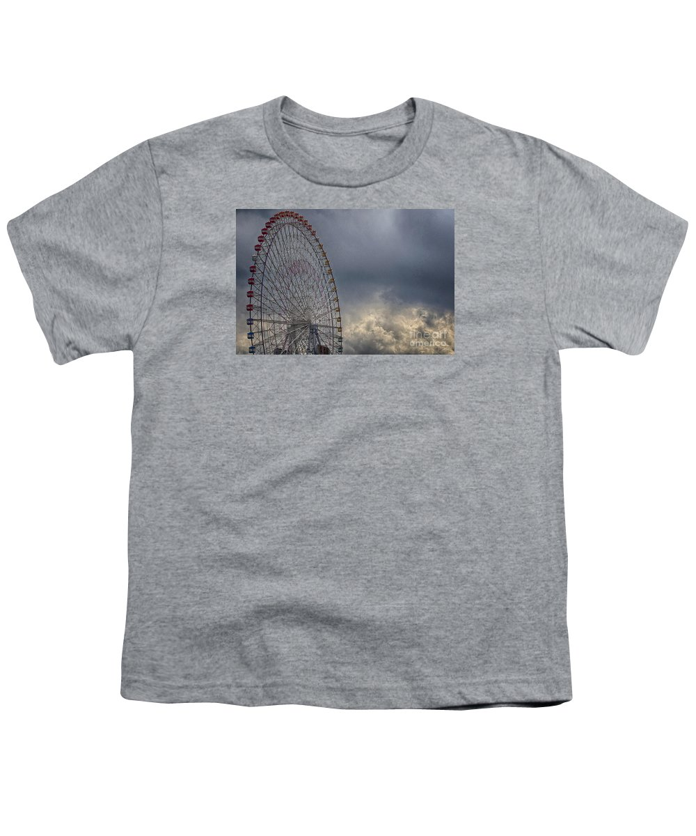 Cloud Youth T-Shirt featuring the photograph Ferris Wheel by Tad Kanazaki