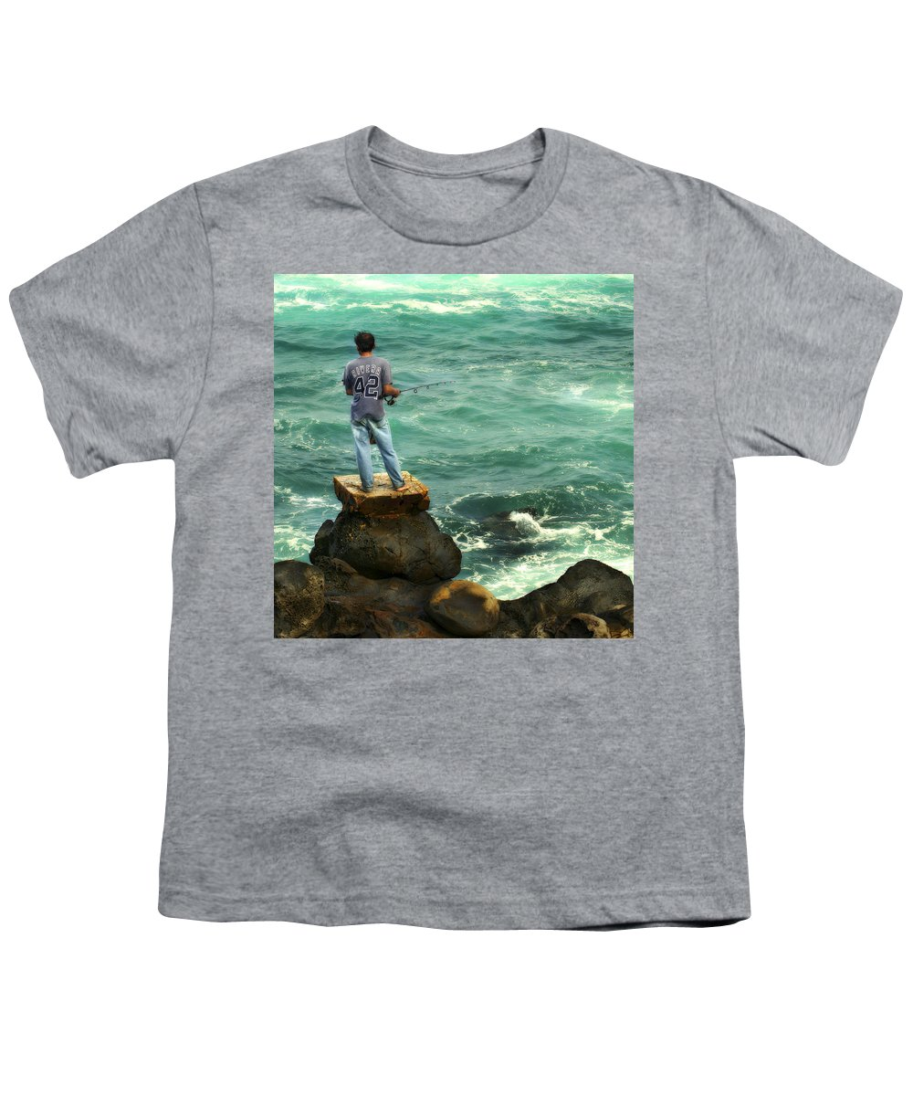 Americana Youth T-Shirt featuring the photograph Fisherman by Marilyn Hunt