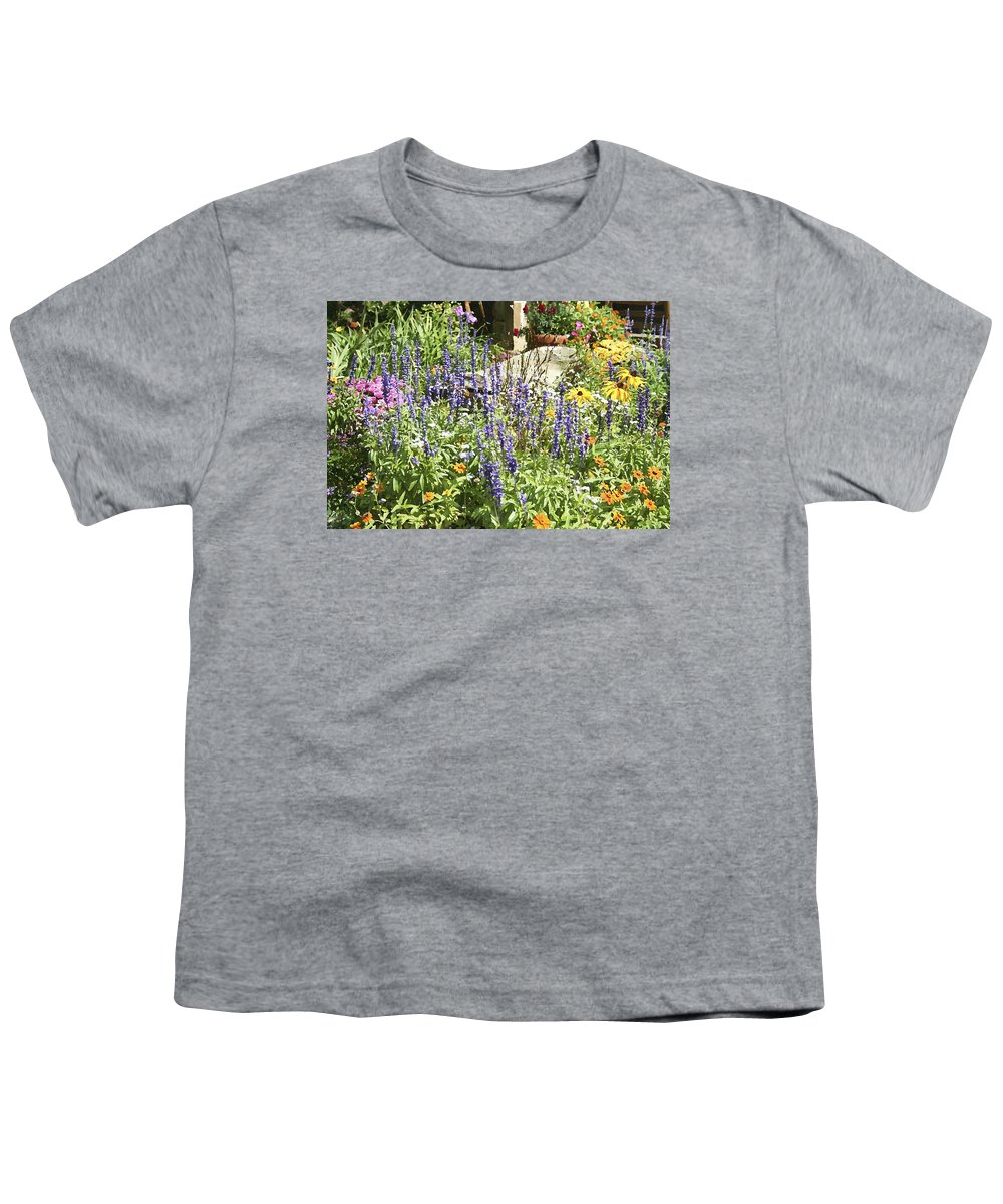 Flower Youth T-Shirt featuring the photograph Flower Garden by Margie Wildblood