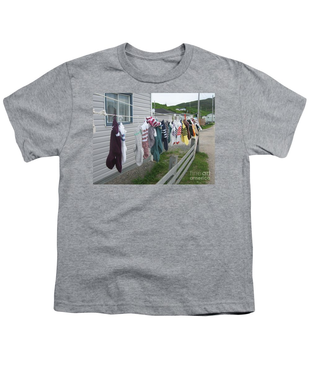 Knitted Socks Newfoundland Youth T-Shirt featuring the photograph For Sale by Seon-Jeong Kim