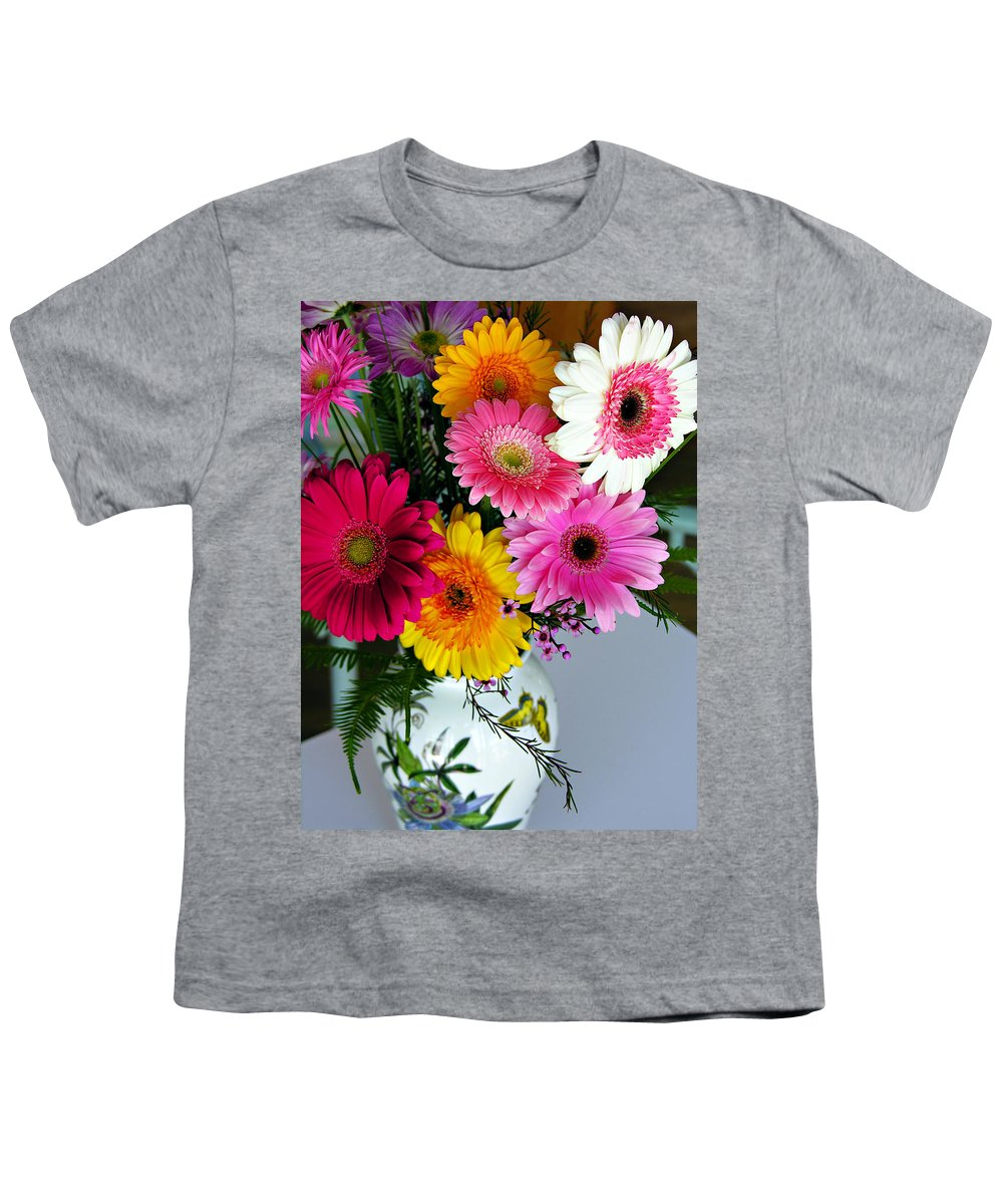 Flower Youth T-Shirt featuring the photograph Gerbera Daisy Bouquet by Marilyn Hunt