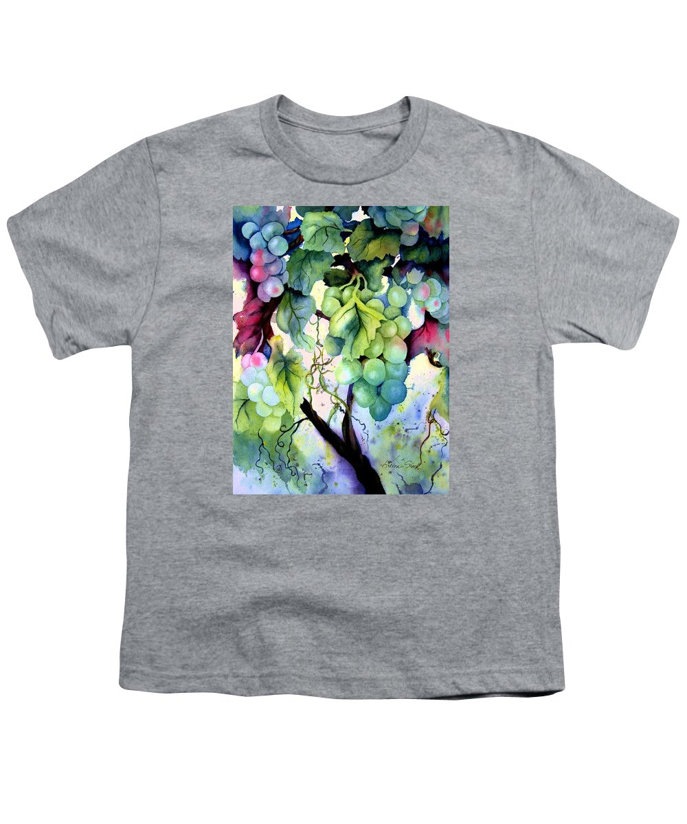 Grapes Youth T-Shirt featuring the painting Grapes II by Karen Stark