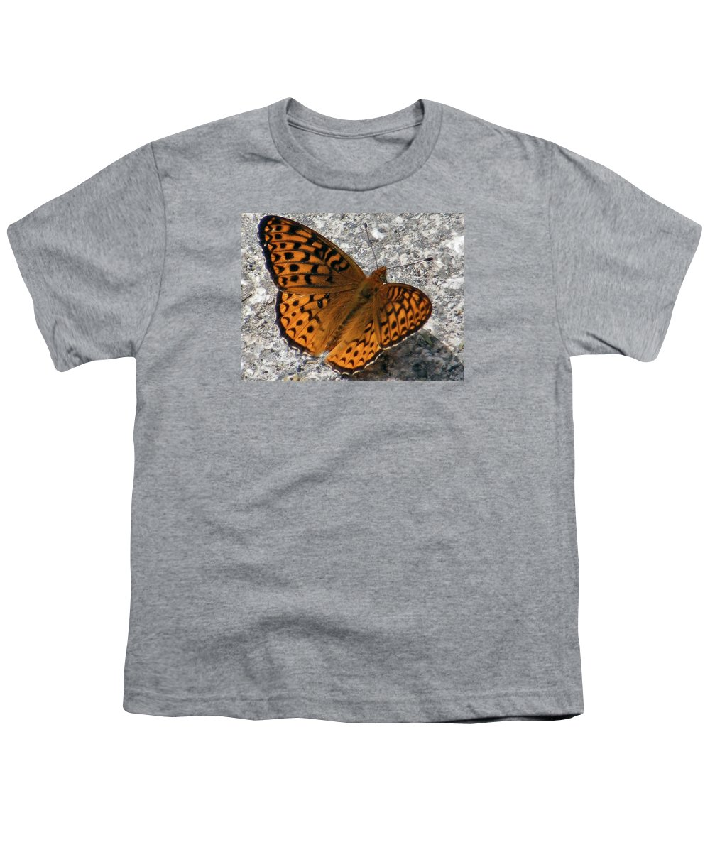 Butterfly Youth T-Shirt featuring the photograph Great Spangled Fritterlary by Dave Martsolf