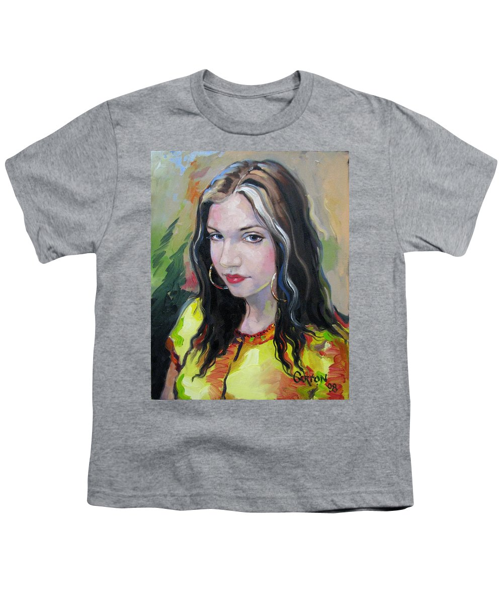 Gypsy Youth T-Shirt featuring the painting Gypsy Girl by Jerrold Carton