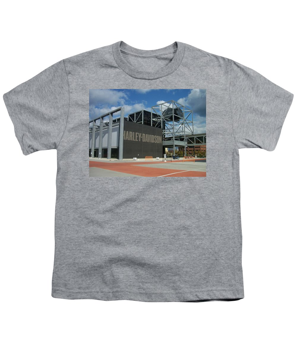 Youth T-Shirt featuring the photograph Harley Museum by Anita Burgermeister