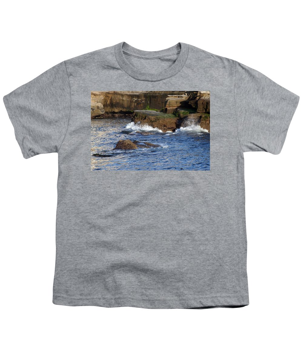 Ocean Youth T-Shirt featuring the photograph Lajolla Rocks by Margie Wildblood