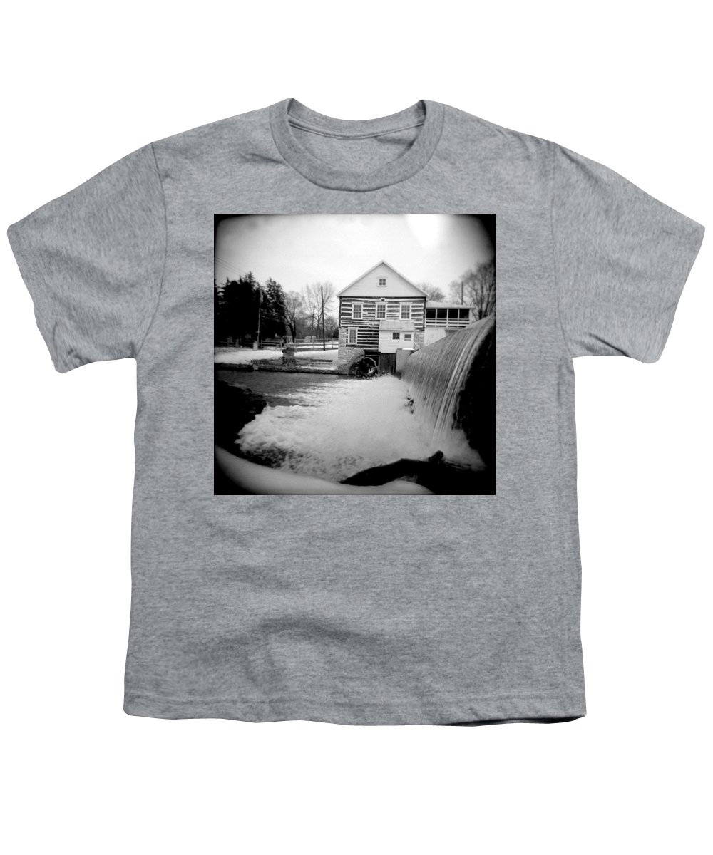 Photograph Youth T-Shirt featuring the photograph Laughlin Mill by Jean Macaluso