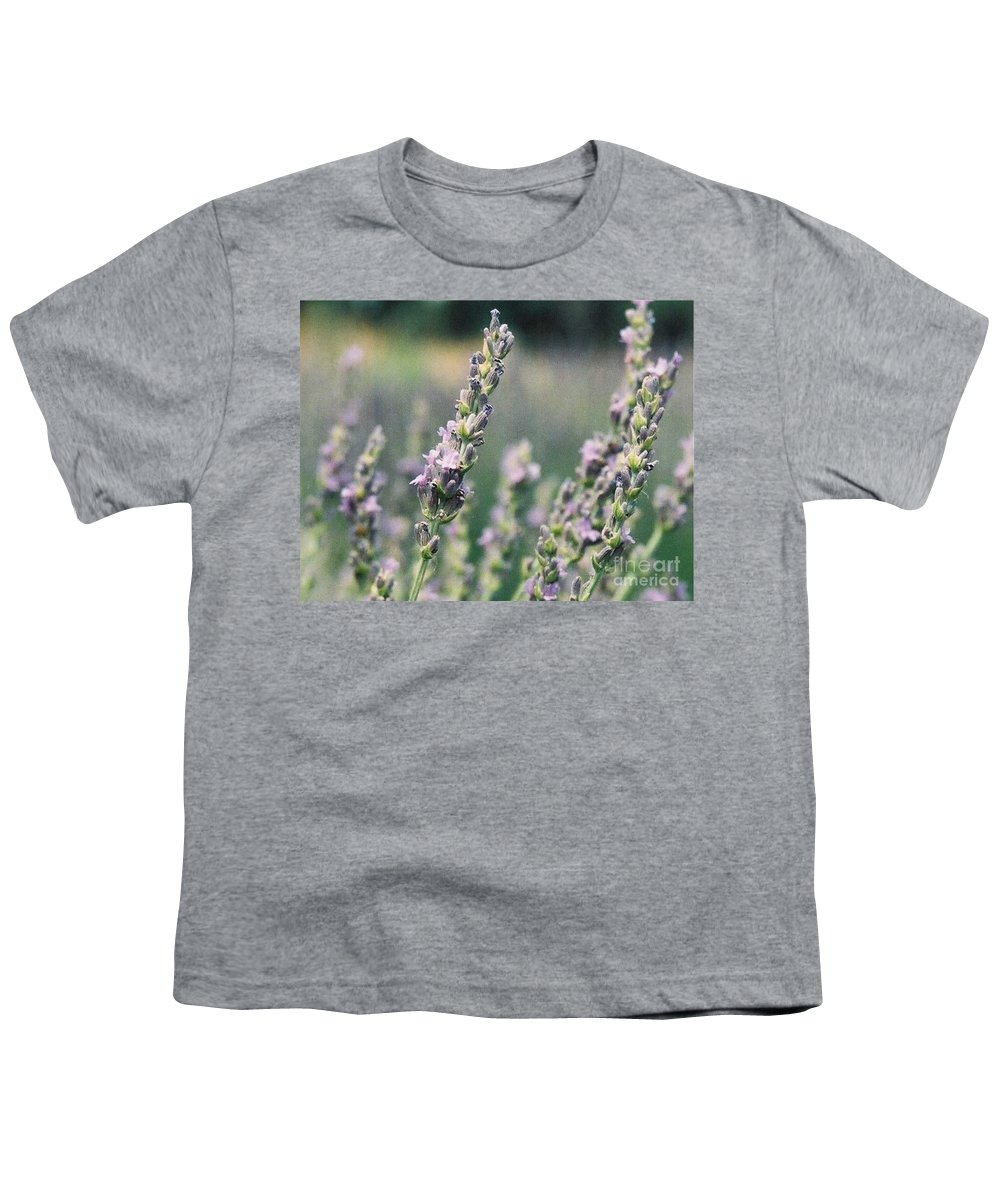 Flowers Youth T-Shirt featuring the painting Lavender by Eric Schiabor