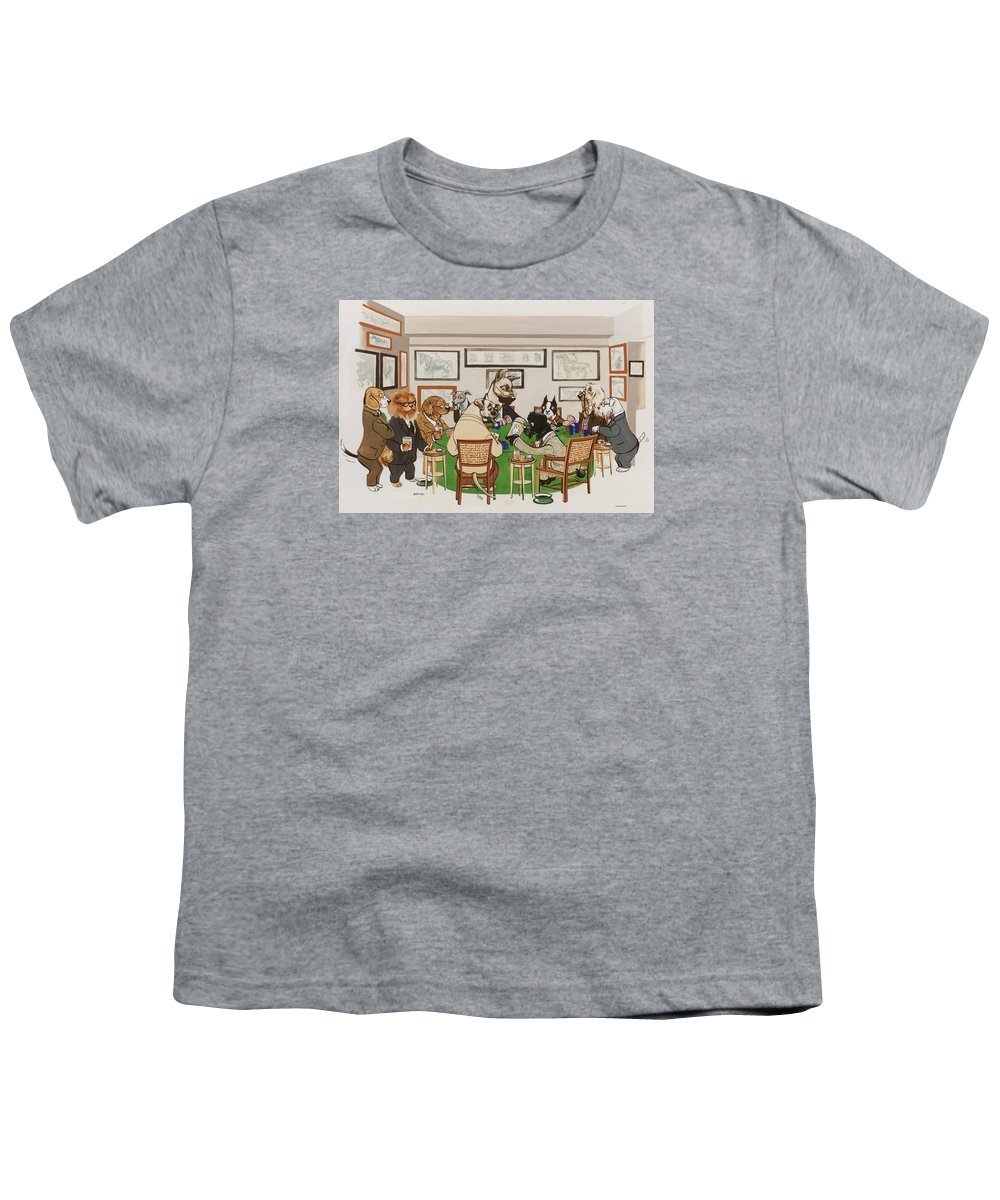 Poker Youth T-Shirt featuring the painting Lexington Club by Constance Depler Coleman