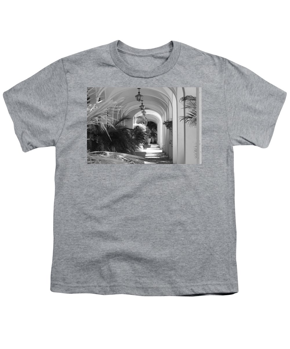 Architecture Youth T-Shirt featuring the photograph Lighted Arches by Rob Hans