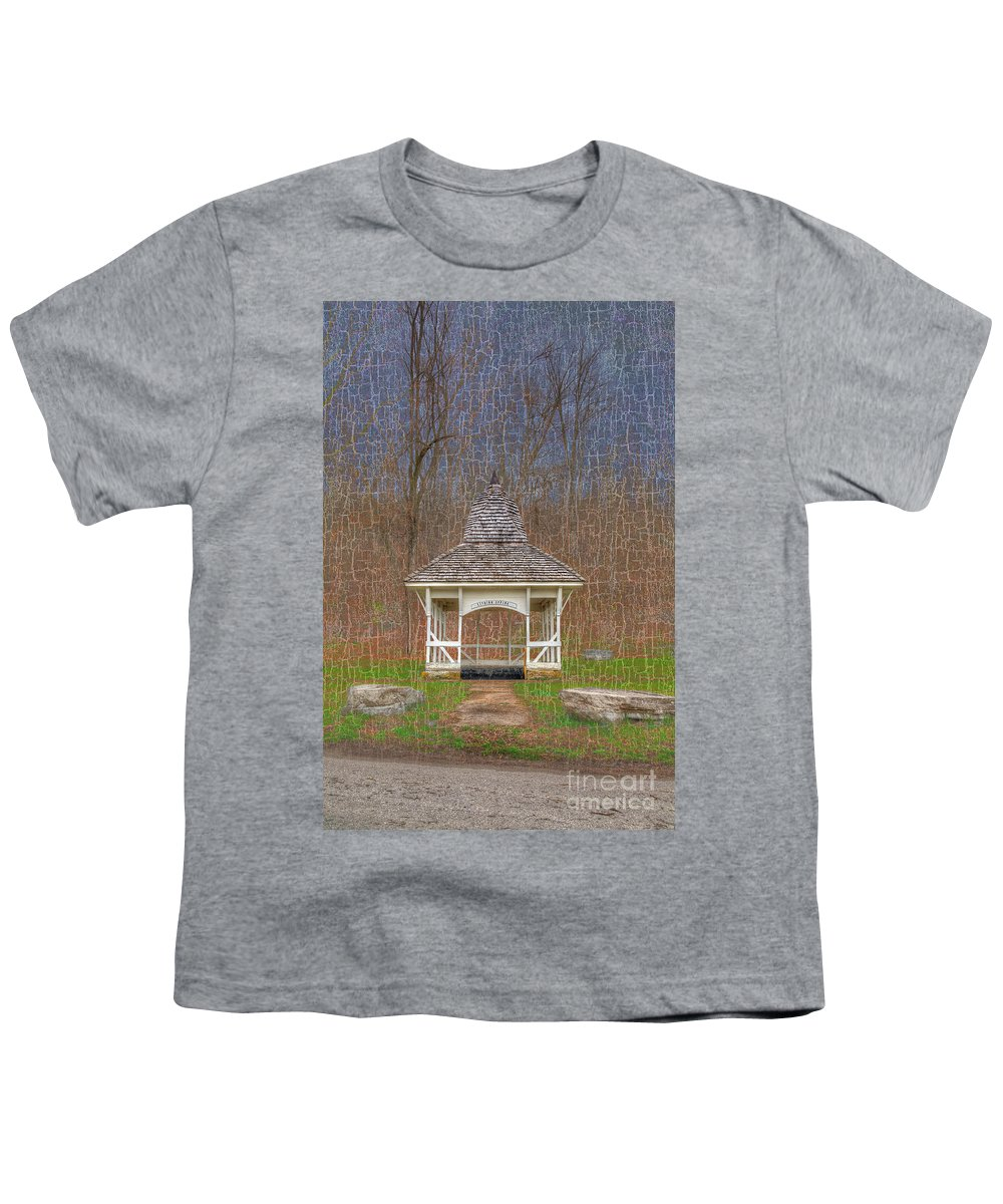 Hdr Youth T-Shirt featuring the photograph Lithium Spring by Larry Braun