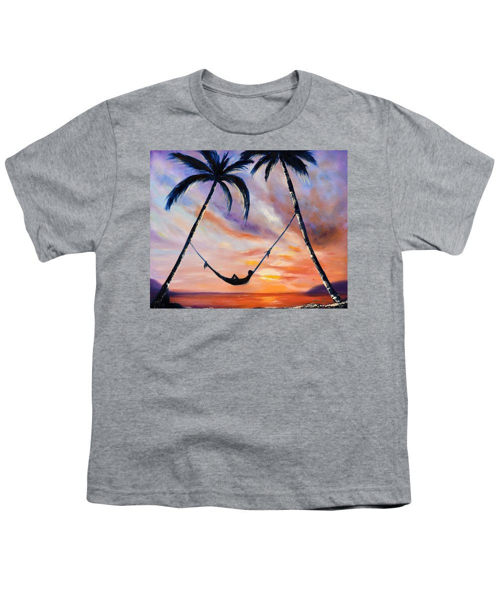 Sunset Youth T-Shirt featuring the painting Living The Dream by Gina De Gorna