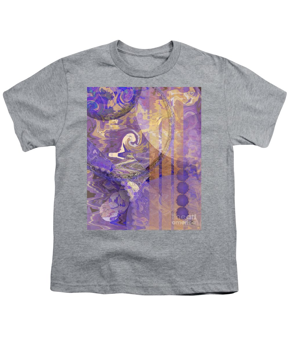 Lunar Impressions Youth T-Shirt featuring the digital art Lunar Impressions by John Beck