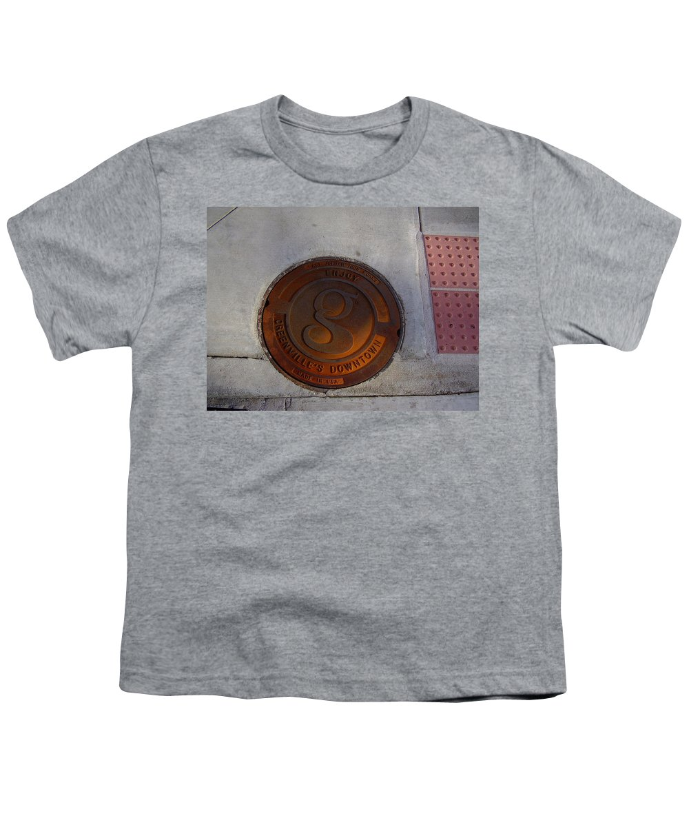 Manhole Youth T-Shirt featuring the photograph Manhole I by Flavia Westerwelle