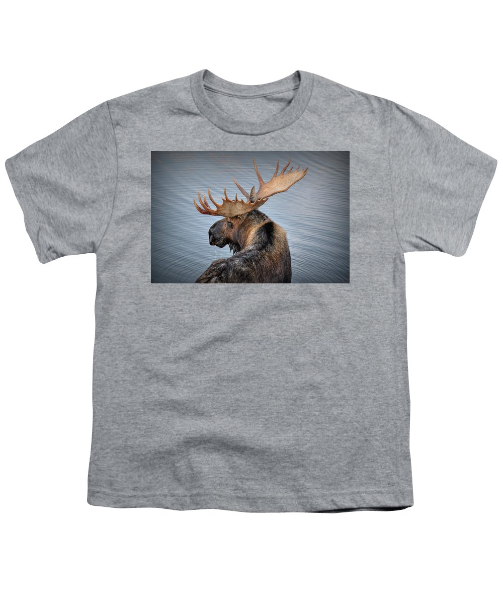 Moose Youth T-Shirt featuring the photograph Moose Drool by Ryan Smith