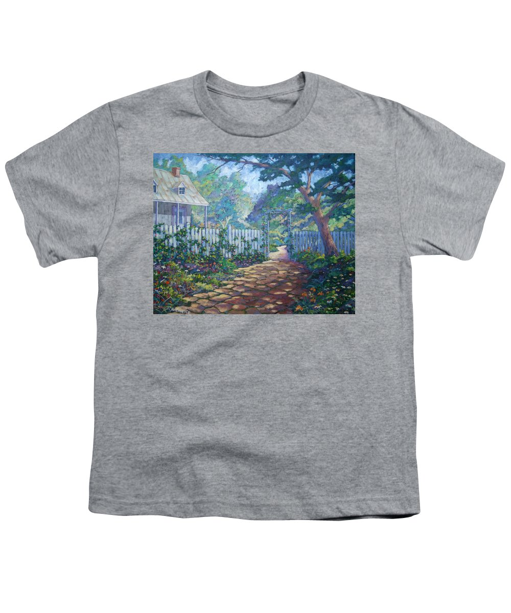 Painter Art Youth T-Shirt featuring the painting Morning Glory by Richard T Pranke