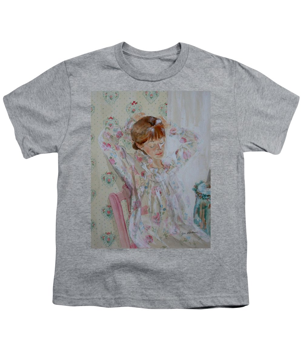 Morning Youth T-Shirt featuring the painting Morning Ritual by Jean Blackmer