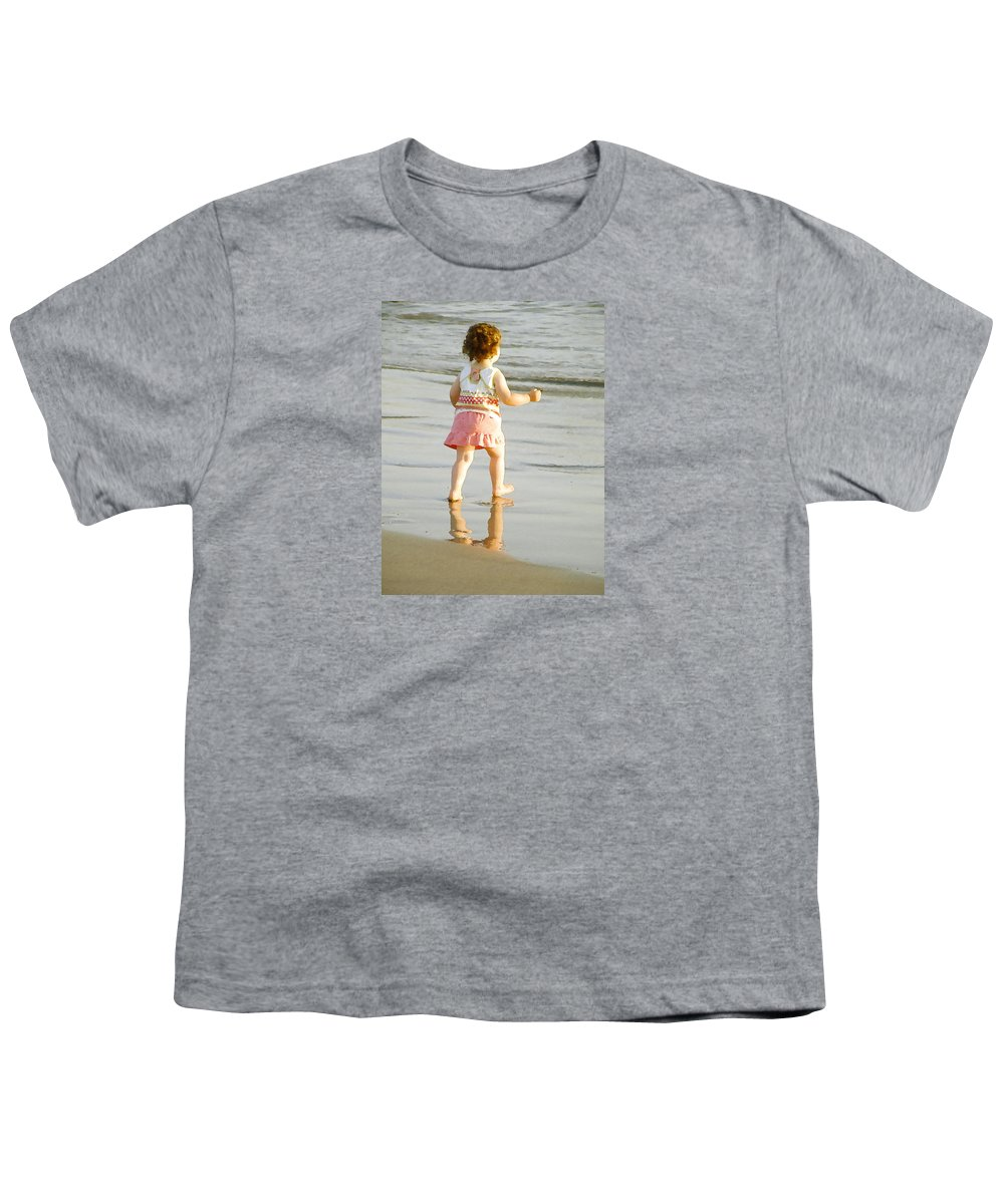Beach Youth T-Shirt featuring the photograph No Fear by Margie Wildblood