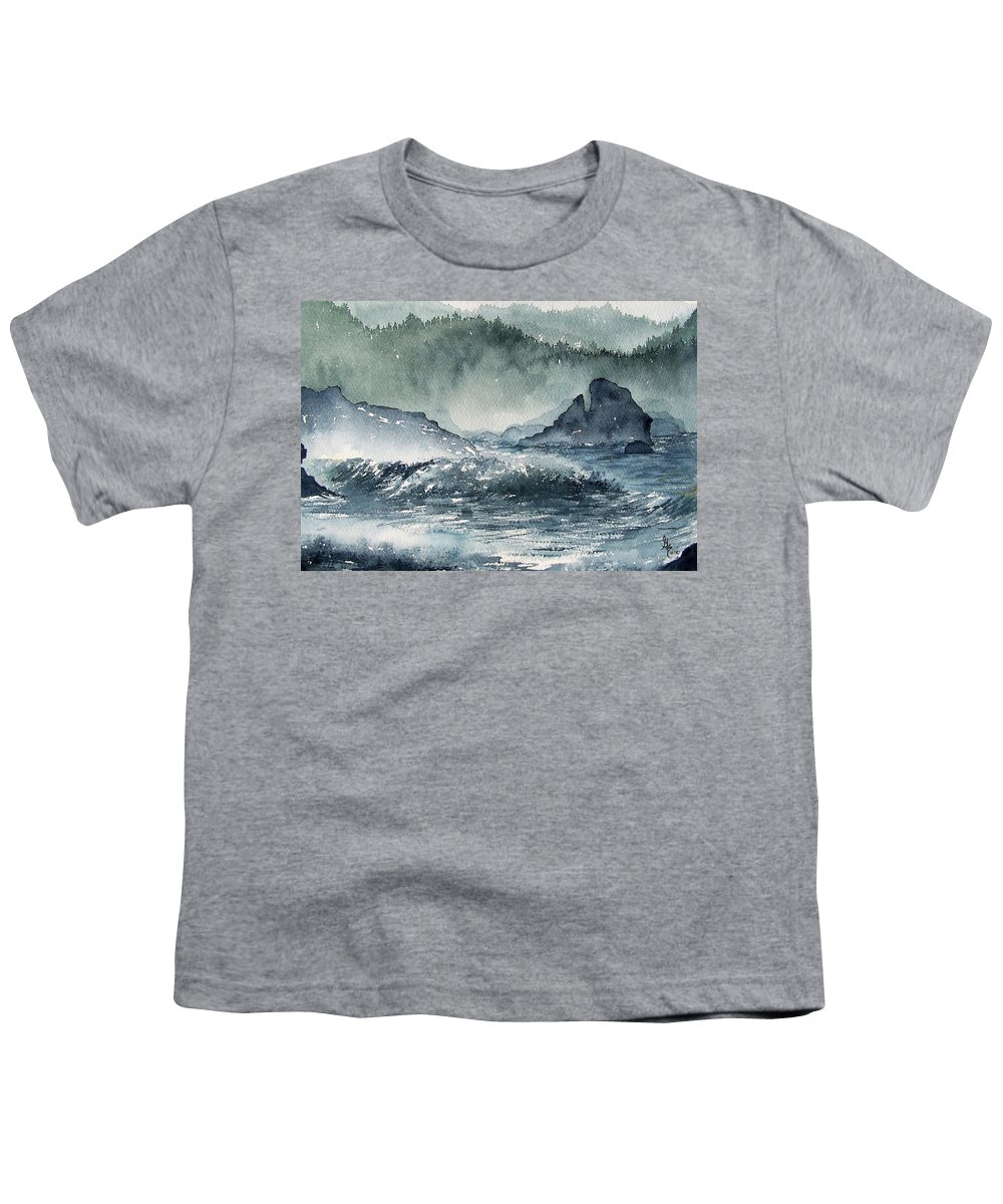 Ocean Youth T-Shirt featuring the painting Northern California Coast by Gale Cochran-Smith