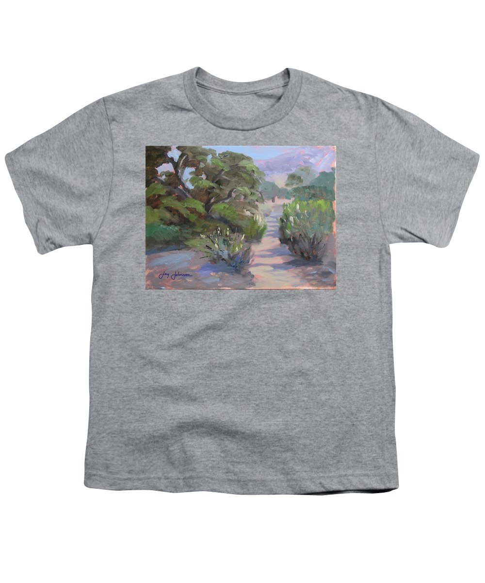 Landscape Youth T-Shirt featuring the painting Old Agoura by Jay Johnson