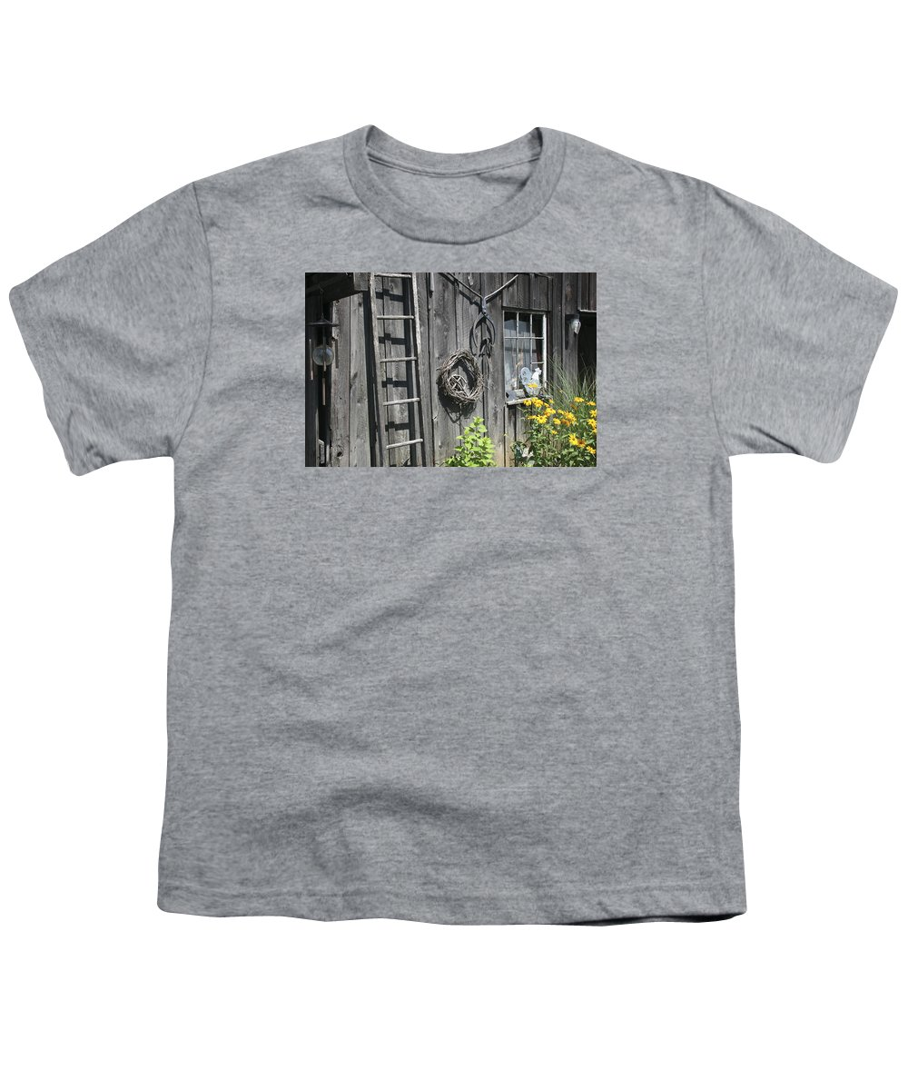 Barn Youth T-Shirt featuring the photograph Old Barn II by Margie Wildblood